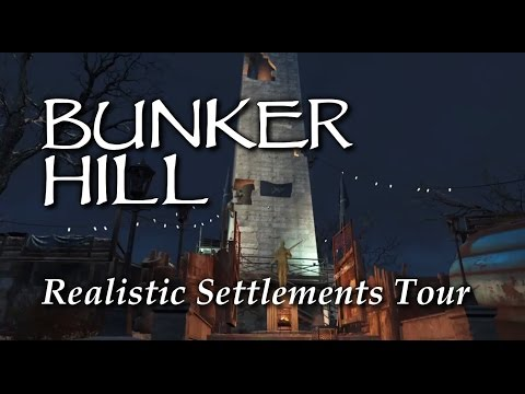 Settlement Tour ep26 Bunker Hill Fallout 4 PS4