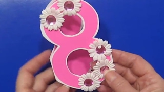 Сделать Подарок Маме Бабушке Учительнице На 8 Марта Своими Руками gift for 8 march Поделки с детьми!