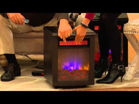 Twin Star Home Infrared Electric Quartz Fireplace Heater with Dan Hughes
