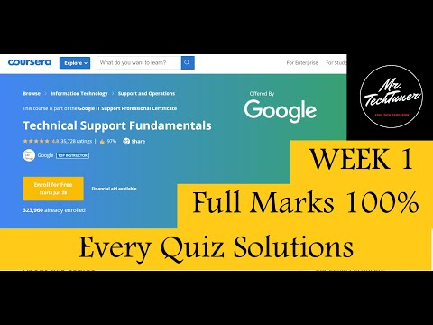 Google IT Support |Technical Support Fundamentals | Week 1 | Quiz Solutions | Coursera