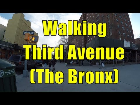 ⁴ᴷ Walking Tour of the Bronx, NYC - Third Avenue from Fordham Road to East Harlem, Manhattan