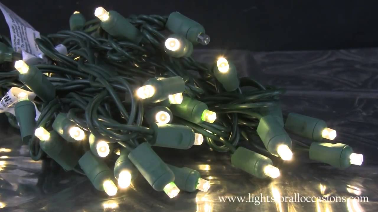 led string lights 50 wide angle bulbs twinkling youtube