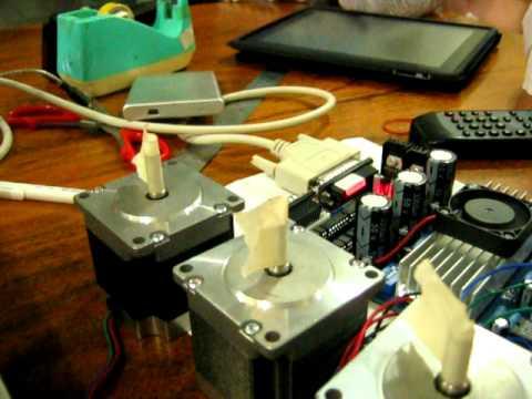 ทดลอง TEST  mini  CNC  ด้วยโปรแกรม  Mach 3