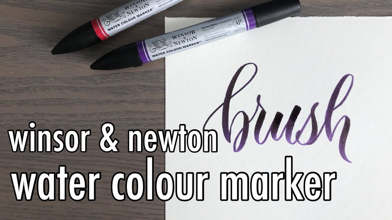 Writing with brush markers brush calligraphy lettering