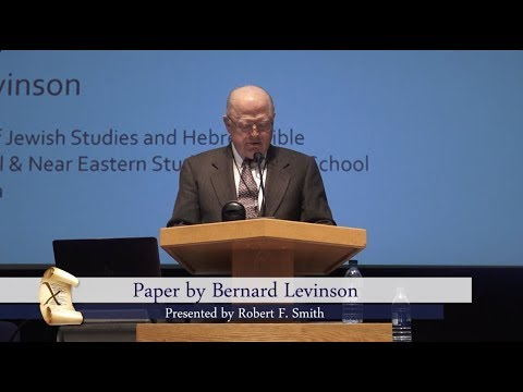 The Pleasures and Perils of Chiasmus  - Bernard Levinson - Chiasmus Conference August 2017