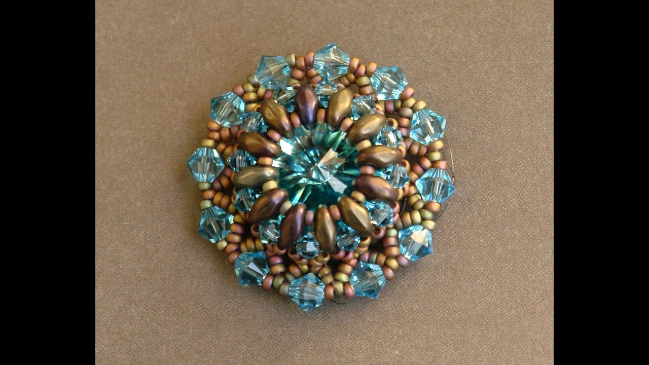 Sidonia S Handmade Jewelry Superduo Lotus Flower Pendant