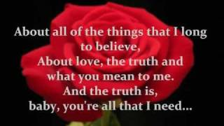 Bon Jovi - Bed of Roses [With Lyrics on Screen]