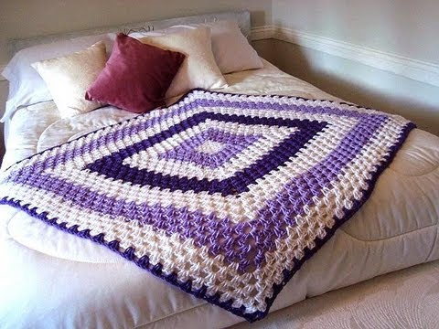 GRANNY SQUARE BLANKET, any size, how to diy, baby blanket, pillow, afghan, bedspread, throw