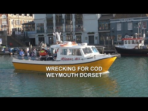 Wrecking For Cod Out Of Weymouth Dorset On Board Charter Boat Flamer IV