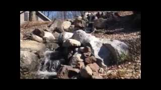 Backyard Fish Pond And Waterfall