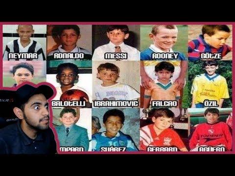 تحدي معرفة اكثر من 100+ لاعب كرة قدم لما كانوا اطفال - اقوى تحدي كروي في يوتيوب !!!