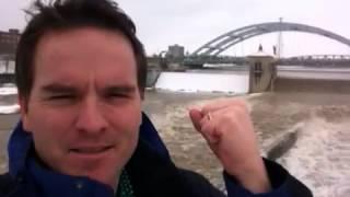 Shark ball, Genesee River, Rochester
