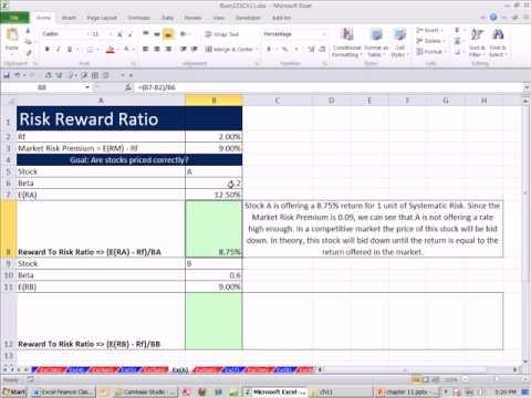 Excel Finance Class 108: Reward To Risk Ratio - Treynor Index