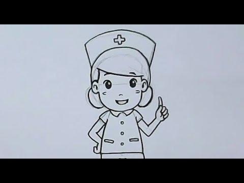 สอนวาดรูปการ์ตูนน่ารัก รูปพยาบาล
