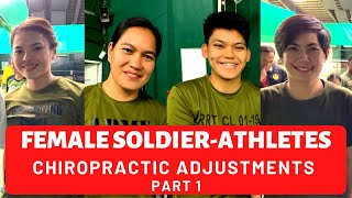 COMPILATION OF FOUR FEMALE SOLDIER-ATHLETES | *AMAZING CHIROPRACTIC ADJUSTMENTS* BY BGC CHIROPRACTOR