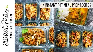 4 Instant Pot Meal Prep Recipes