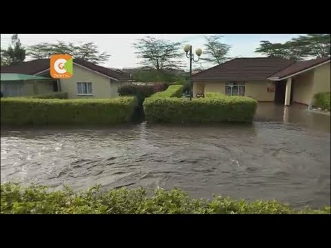 Green Park View Estate in Athi River marooned following a day of intensified rains