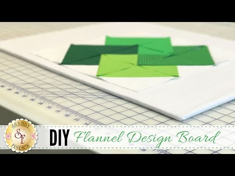 DIY Flannel Design Board | a Shabby Fabrics DIY Craft Tutorial