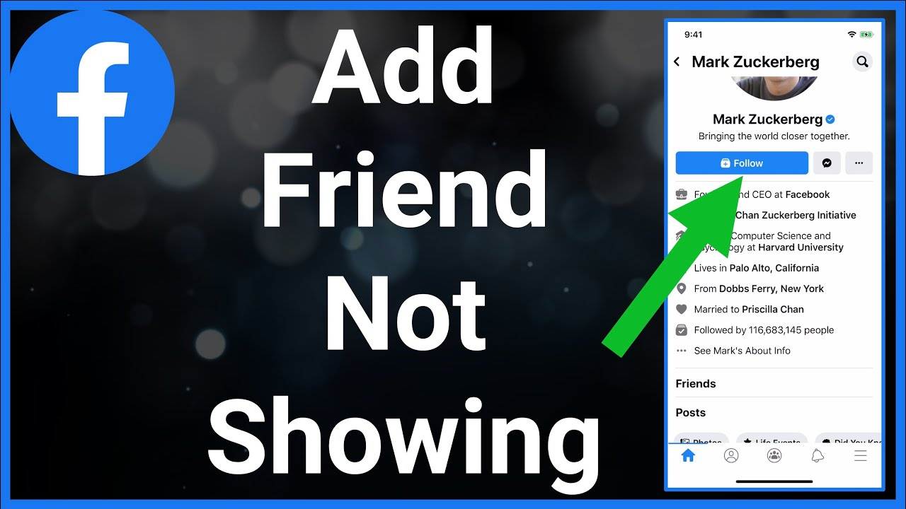 How To Fix Add Friend Not Showing On Facebook - YouTube