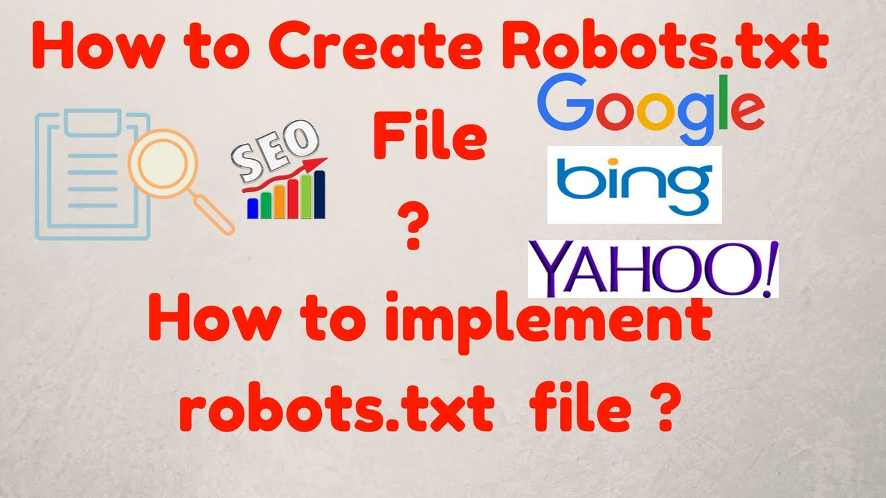 How to Create Robots txt File | How to Implement robots txt file |  Implement robot txt file