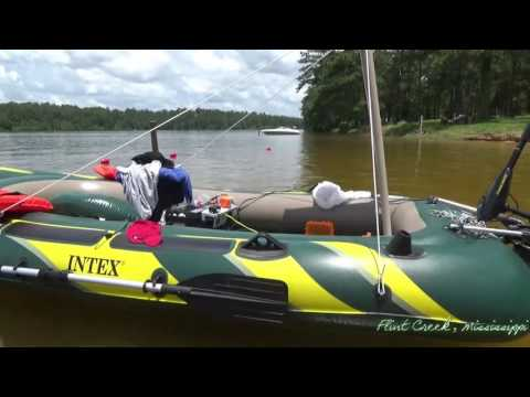 Camping - Flint Creek in Wiggins, Mississippi - Solar Boat