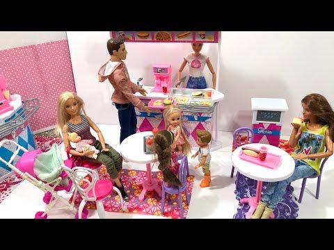 Barbie doll Fast Food Restaurant!!