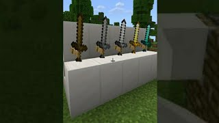 Stand Swords In Minecraft || #shorts