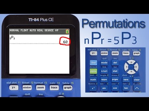Permutations With The Ti 84 Plus Ce Calculator