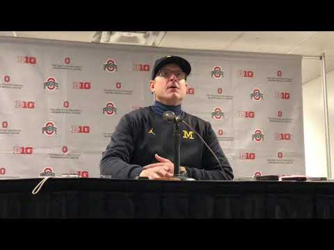 Jim Harbaugh talks Michigan's embarrassing loss to Ohio State