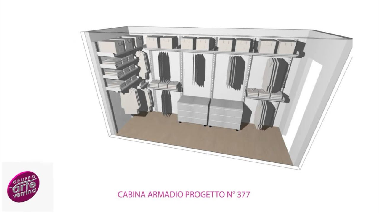 Cabina armadio progetto 377 youtube for Armadio con serratura ikea