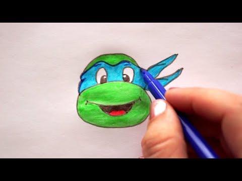 Ninja Schildkröte Zeichnen How To Draw Ninja Turtle рисовать черепашку ниндзя