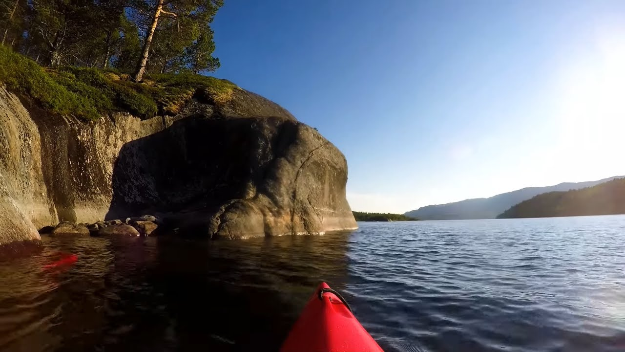 Kayak trip to Vatnvatnet in Bodø