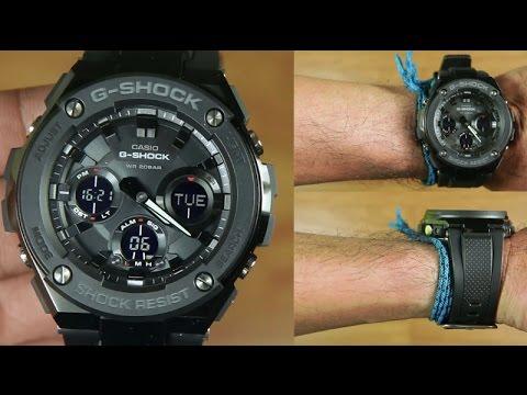 64e3d69e3f7f7 Casio G-shock G-STEEL GST-S100G-1B FULL BLACK   UNBOXING - YouTube