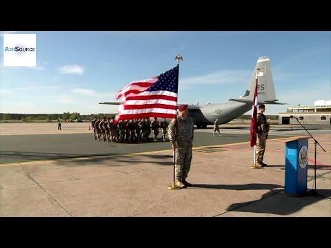 U.S. Soldiers Arrive In Riga, Latvia