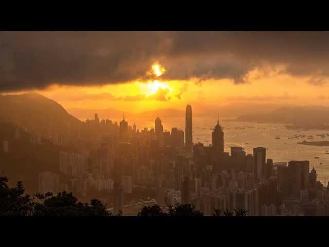 Sunset @ Victoria Habour, Hong Kong