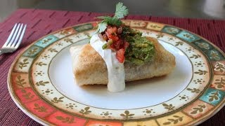 Chicken Mushroom Chimichanga - How to Make a Chimichanga (Oven Fried Burrito)