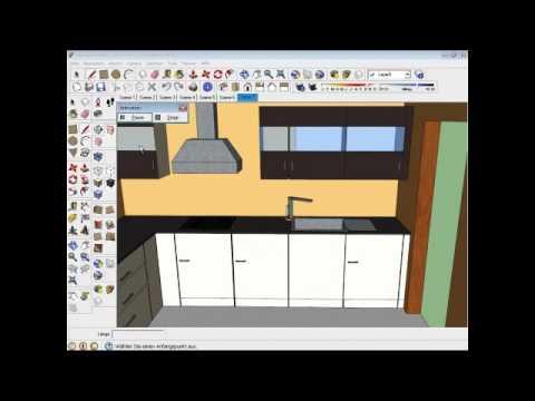 Google SketchUp Küchenmodell
