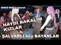 Köylü şalvarlı bayanlar düğün oyunu. Turkish willage dances on wedding