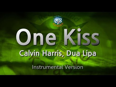 Calvin Harris, Dua Lipa-One Kiss (MR) (Karaoke Version) [ZZang KARAOKE]