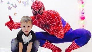 ★ Spiderman. Никита и Человек Паук. Игры для детей. Супергеройские задания. Новые серии 2016
