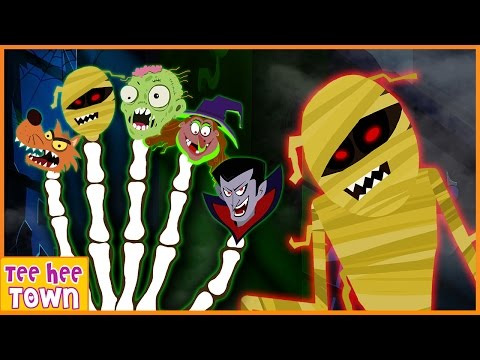 Finger Family Halloween Song Part 1 | Halloween Songs for Kids | Scary Songs | By Teehee Town