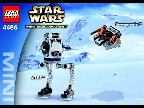 How To Build Lego Mini At St Tm Snowspeeder Tm 4486