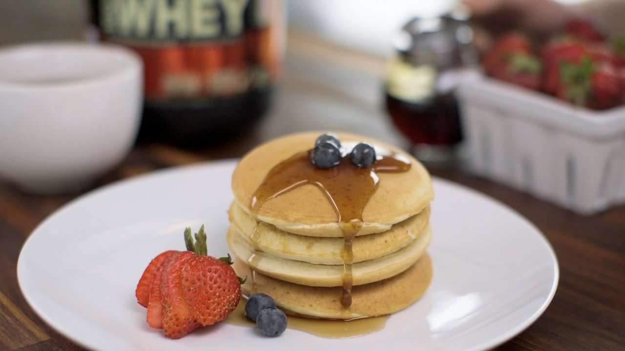 Gold Standard 100 Whey Birthday Cake Protein Pancakes Youtube