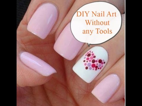 Diy Nail Art Without Any Tools Designs Easy For Beginners