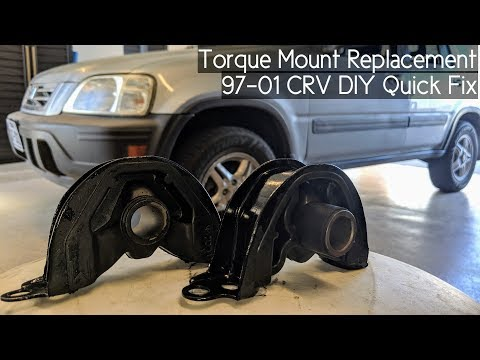 How To Replace Torque Mount (Front Engine Mount) on 97-01 Honda CRV