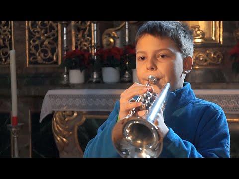 9 Year Old Trumpet Kid Playing Giazotto / Albinoni