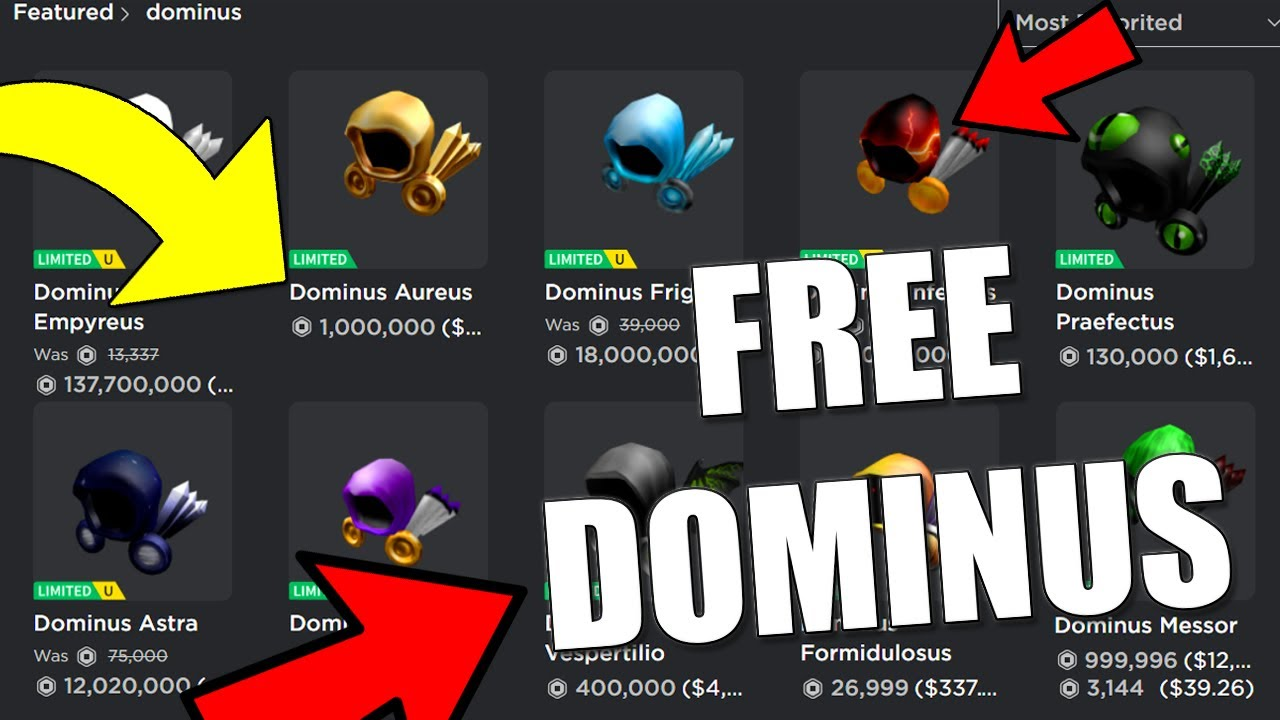 How To Get Free Dominus On Roblox 2020 Working Promo Code