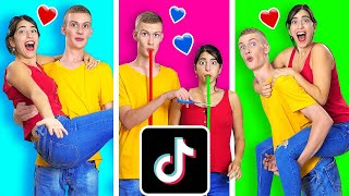 RECREATING VIRAL COUPLES TIK TOKS WITH MY CRUSH CHALLENGE || Funny TikTok Tricks by 123 GO!CHALLENGE