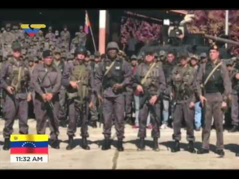 Comandante del Ejército Jesús Suárez Chourio desde Fuerte Paramacay tras derrotar ataque