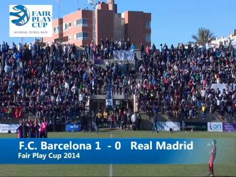 Final Real madrid vs F.C.  Barcelona alevin 2014